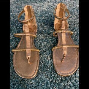 NWOT ISOLA gold sandals.